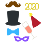 NYE 2020 Photo Props SVG File