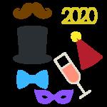NYE 2020 Photo Props SVG File