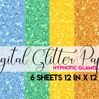 pastel digital glitter paper