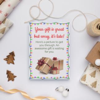 late christmas present message printable